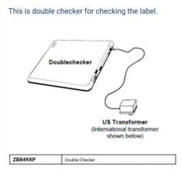 รูปของ SENSORMATIC ZB849XP DOUBLE CHECKER เครื่องเช็คสัญญาณ อุปกรณ์ป้องกันการขโมยสินค้า