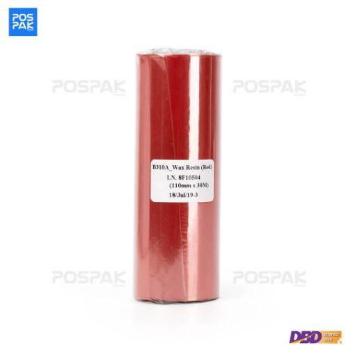 รูปของ RICOH B310A Size 110mm X 300m F/I แกน 1 นิ้ว Wax Resin หมึกริบบอน สีแดง