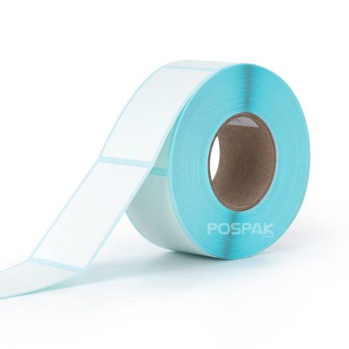 รูปของ ST.TT Size 30 x 50 mm (3 x 5 cm) Sticker 500 ดวง/ม้วน แกน 1.5 นิ้ว สติ๊กเกอร์กระดาษ กึ่งมันกึ่งด้าน (ใช้ร่วมกับ Wax Ribbon หรือ Wax Resin Ribbon)