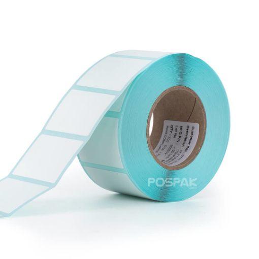 รูปของ ST.TT Size 32 x 25 mm (3.2 x 2.5 cm) Sticker 700 ดวง/ม้วน แกน 1.5 นิ้ว สติ๊กเกอร์กระดาษ กึ่งมันกึ่งด้าน (ใช้ร่วมกับ Wax Ribbon หรือ Wax Resin Ribbon)