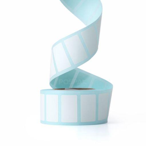 รูปของ ST.TT Size 25 x 15 mm (2.5 x 1.5 cm) Sticker 700 ดวง/ม้วน แกน 1.5 นิ้ว สติ๊กเกอร์กระดาษ กึ่งมันกึ่งด้าน (ใช้ร่วมกับ Wax Ribbon หรือ Wax Resin Ribbon)