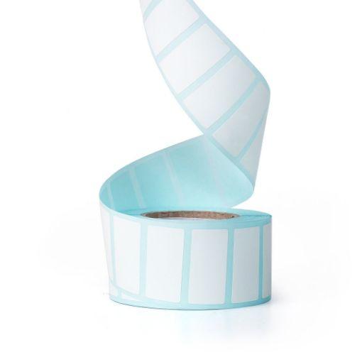 รูปของ ST.TT Size 30 x 15 mm (3 x 1.5 cm) Sticker 700 ดวง/ม้วน แกน 1.5 นิ้ว สติ๊กเกอร์กระดาษ กึ่งมันกึ่งด้าน (ใช้ร่วมกับ Wax Ribbon หรือ Wax Resin Ribbon)