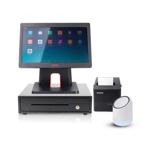 Picture of ชุด POS ร้านสะดวกซื้อ พร้อมใช้ iMin D3-504 + iMin X1 + EK350 + TM-T82X ฟรี แอปพลิเคชัน Loyverse