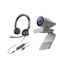 Picture of Poly Studio P5 kit with Blackwire 3325 (Stereo) for video conferencing (PN:2200-87130-025)