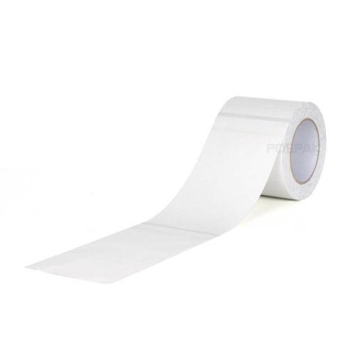 รูปของ กระดาษความร้อน บิลไฟฟ้า บิลน้ำประปา ขนาด 4 x 8 นิ้ว (100mm x 200mm) แบบ Black Mask สำหรับเครื่องพิมพ์บาร์โค้ด แกน 3 นิ้ว หนา 58 แกรม จำนวน 500 ดวง/ม้วน