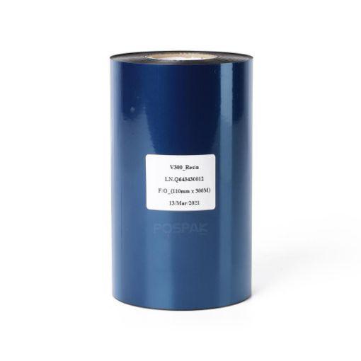 รูปของ DNP V300 SIZE 110MM X 300M F/O แกน 1 นิ้ว resin ribbon หมึกริบบอน