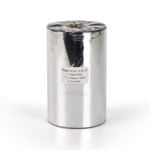 รูปของ RICOH B120E Size 110mm X 300m F/O แกน 1 นิ้ว Wax Resin Premium Ribbon หมึกริบบอน