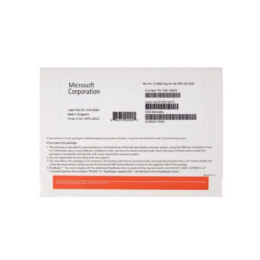 รูปของ MICROSOFT Windows 10 Pro 64 Bit OEM (PN:FQC-08929)