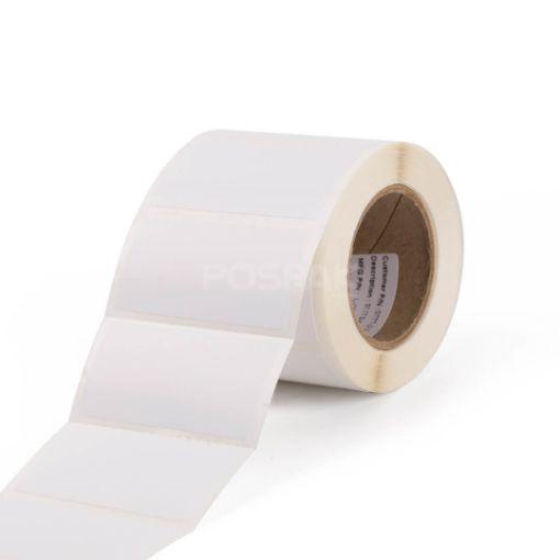 รูปของ ST.TT Size 2 x 1 inch 500 ดวง/ม้วน แกน 1.5 นิ้ว สติ๊กเกอร์กระดาษ กึ่งมันกึ่งด้าน (ใช้ร่วมกับ Wax Ribbon หรือ Wax Resin Ribbon)