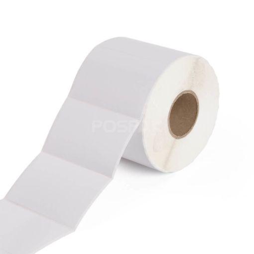 รูปของ ST.TT Size 80 x 50 mm Sticker 1,000 ดวง/ม้วน แกน 1.5 นิ้ว สติ๊กเกอร์กระดาษ กึ่งมันกึ่งด้าน (ใช้ร่วมกับ Wax Ribbon หรือ Wax Resin Ribbon)