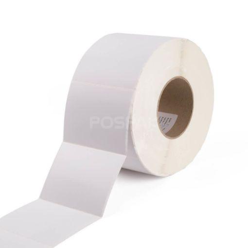 รูปของ ST.TT Size 3 x 4 inch (76.2 x 101.6 mm) 2,000 ดวง/ม้วน แกน 3 นิ้ว สติ๊กเกอร์กระดาษ กึ่งมันกึ่งด้าน (ใช้ร่วมกับ Wax Ribbon หรือ Wax Resin Ribbon)