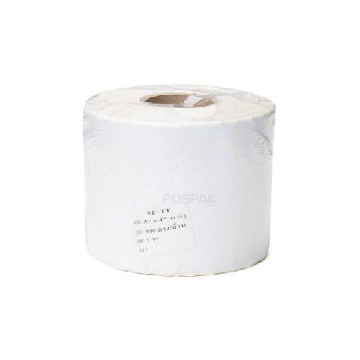 รูปของ ST.TT Size 3 x 4 cm 500 ดวง/ม้วน แกน 1.5 นิ้ว สติ๊กเกอร์กระดาษ กึ่งมันกึ่งด้าน (ใช้ร่วมกับ Wax Ribbon หรือ Wax Resin Ribbon)