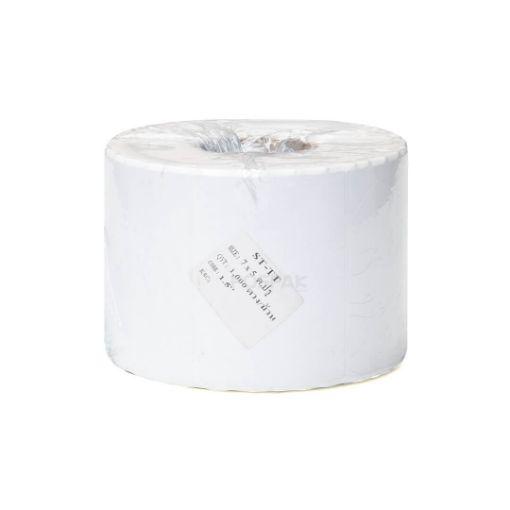 รูปของ ST.TT Size 7 x 5 cm 1,000 ดวง/ม้วน แกน 1.5 นิ้ว สติ๊กเกอร์กระดาษ กึ่งมันกึ่งด้าน (ใช้ร่วมกับ Wax Ribbon หรือ Wax Resin Ribbon)