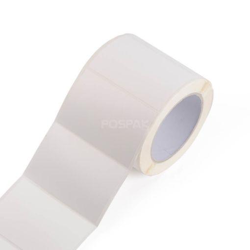 รูปของ ST.PP Matte White Size 90 x 60 mm 500 ดวง/ม้วน แกน 3 นิ้ว สติ๊กเกอร์พีพี (ใช้ร่วมกับ Resin Ribbon) (CP)