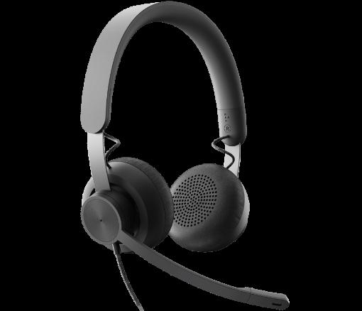 รูปของ LOGITECH Zone Wired UC ชุดหูฟัง USB ไมค์ตัดเสียงรบกวน เหมาะอย่างยิ่งสำหรับสถานที่ทำงานที่มีเสียงดัง (PN:981-000876)