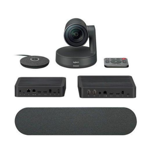 รูปของ LOGITECH Rally System (Incl, 1 spkr 2 mic) (PN:960-001217) เซ็ตกล้องสำหรับการประชุมทางวิดิโอขนาดกลาง