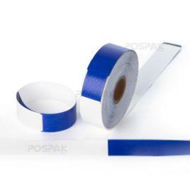 รูปของ WB01 Dark Blue Size 279 x 25.4 mm PET Thermal WristBand สายรัดข้อมือ สำหรับผู้ใหญ่ จำนวน 200 ดวง/ม้วน